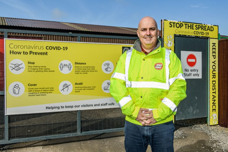Image of Donnie Sinclair standing outside our Bower Factory