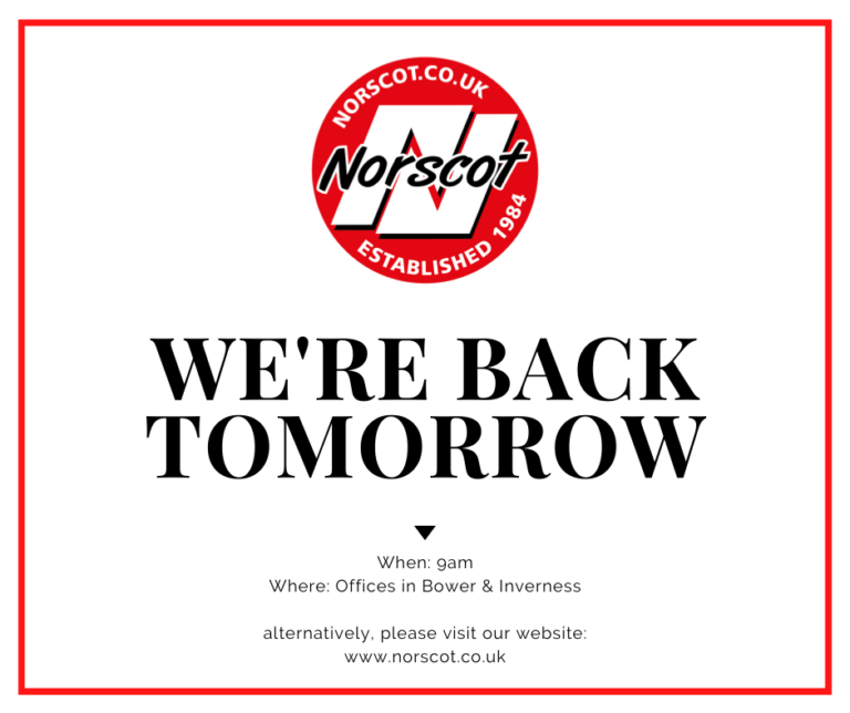 we're back tomorrow from 9am