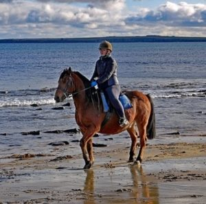 eleanor on her favourite horse, Squire